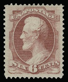 Sale Number 930, Lot Number 2003, 1870-71 National Bank Note Co. Ungrilled Issue (Scott 145-155)6c Carmine (148), 6c Carmine (148)