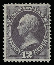 Sale Number 930, Lot Number 2007, 1870-71 National Bank Note Co. Ungrilled Issue (Scott 145-155)12c Dull Violet (151), 12c Dull Violet (151)