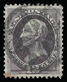 Sale Number 930, Lot Number 2008, 1870-71 National Bank Note Co. Ungrilled Issue (Scott 145-155)12c Dull Violet (151), 12c Dull Violet (151)