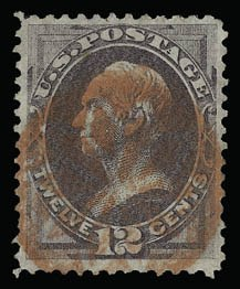 Sale Number 930, Lot Number 2009, 1870-71 National Bank Note Co. Ungrilled Issue (Scott 145-155)12c Dull Violet (151), 12c Dull Violet (151)