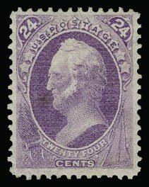 Sale Number 930, Lot Number 2011, 1870-71 National Bank Note Co. Ungrilled Issue (Scott 145-155)24c Purple (153), 24c Purple (153)