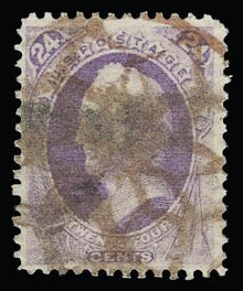 Sale Number 930, Lot Number 2013, 1870-71 National Bank Note Co. Ungrilled Issue (Scott 145-155)24c Purple (153), 24c Purple (153)