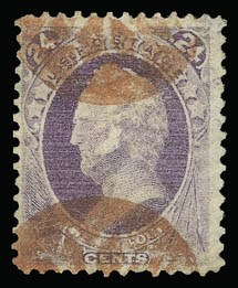 Sale Number 930, Lot Number 2017, 1870-71 National Bank Note Co. Ungrilled Issue (Scott 145-155)24c Purple (153), 24c Purple (153)