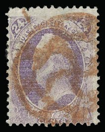 Sale Number 930, Lot Number 2018, 1870-71 National Bank Note Co. Ungrilled Issue (Scott 145-155)24c Purple (153), 24c Purple (153)