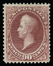 Sale Number 930, Lot Number 2021, 1870-71 National Bank Note Co. Ungrilled Issue (Scott 145-155)90c Carmine (155), 90c Carmine (155)