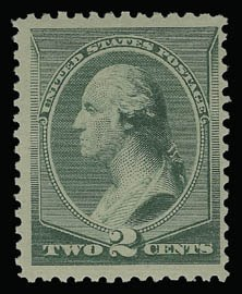 Sale Number 930, Lot Number 2097, 1887 American Bank Note Co. Issue (Scott 212-218)2c Green (213), 2c Green (213)