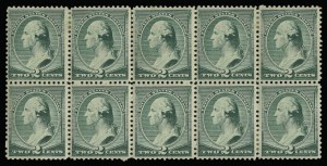 Sale Number 930, Lot Number 2098, 1887 American Bank Note Co. Issue (Scott 212-218)2c Green (213), 2c Green (213)