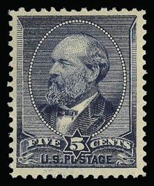 Sale Number 930, Lot Number 2102, 1887 American Bank Note Co. Issue (Scott 212-218)5c Indigo (216), 5c Indigo (216)
