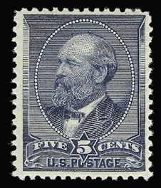 Sale Number 930, Lot Number 2103, 1887 American Bank Note Co. Issue (Scott 212-218)5c Indigo (216), 5c Indigo (216)