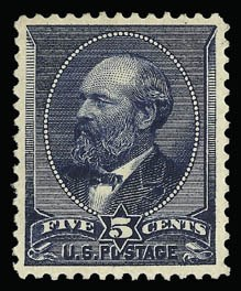 Sale Number 930, Lot Number 2104, 1887 American Bank Note Co. Issue (Scott 212-218)5c Indigo (216), 5c Indigo (216)