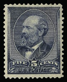 Sale Number 930, Lot Number 2105, 1887 American Bank Note Co. Issue (Scott 212-218)5c Indigo (216), 5c Indigo (216)
