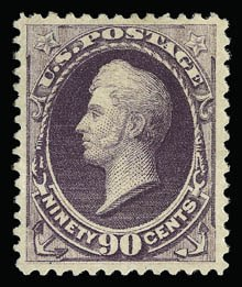 Sale Number 930, Lot Number 2109, 1887 American Bank Note Co. Issue (Scott 212-218)90c Purple (218), 90c Purple (218)