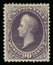 Sale Number 930, Lot Number 2110, 1887 American Bank Note Co. Issue (Scott 212-218)90c Purple (218), 90c Purple (218)