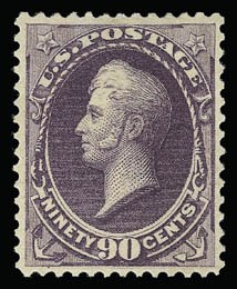 Sale Number 930, Lot Number 2111, 1887 American Bank Note Co. Issue (Scott 212-218)90c Purple (218), 90c Purple (218)