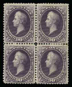 Sale Number 930, Lot Number 2113, 1887 American Bank Note Co. Issue (Scott 212-218)90c Purple (218), 90c Purple (218)