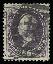 Sale Number 930, Lot Number 2114, 1887 American Bank Note Co. Issue (Scott 212-218)90c Purple (218), 90c Purple (218)