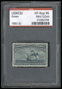 Sale Number 930, Lot Number 2147, 1893 Columbian Issue (Scott 230-245)3c Columbian (232), 3c Columbian (232)