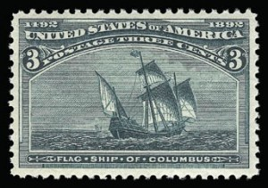 Sale Number 930, Lot Number 2148, 1893 Columbian Issue (Scott 230-245)3c Columbian (232), 3c Columbian (232)