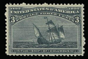Sale Number 930, Lot Number 2150, 1893 Columbian Issue (Scott 230-245)3c Columbian (232), 3c Columbian (232)