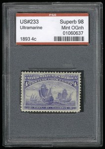 Sale Number 930, Lot Number 2151, 1893 Columbian Issue (Scott 230-245)4c Columbian (233), 4c Columbian (233)