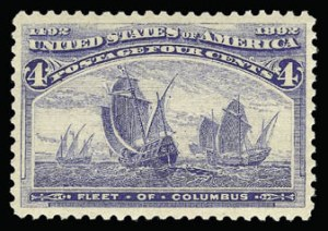 Sale Number 930, Lot Number 2152, 1893 Columbian Issue (Scott 230-245)4c Columbian (233), 4c Columbian (233)