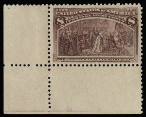 Sale Number 930, Lot Number 2155, 1893 Columbian Issue (Scott 230-245)8c Columbian (236), 8c Columbian (236)