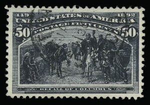 Sale Number 930, Lot Number 2178, 1893 Columbian Issue (Scott 230-245)50c Columbian (240), 50c Columbian (240)
