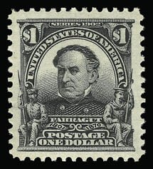 Sale Number 930, Lot Number 2351, 1902-08 Issues (Scott 300-320)$1.00 Black (311), $1.00 Black (311)