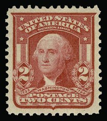 Sale Number 930, Lot Number 2371, 1902-08 Issues (Scott 300-320)2c Carmine, Ty. I (319), 2c Carmine, Ty. I (319)