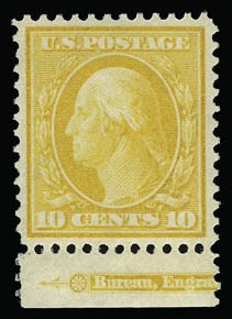 Sale Number 930, Lot Number 2389, 1908-10 Washington-Franklin Issues (Scott 331-356)10c Yellow (338), 10c Yellow (338)