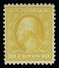 Sale Number 930, Lot Number 2390, 1908-10 Washington-Franklin Issues (Scott 331-356)10c Yellow (338), 10c Yellow (338)