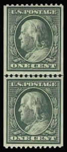 Sale Number 930, Lot Number 2397, 1908-10 Washington-Franklin Issues (Scott 331-356)1c Green, Coil (348), 1c Green, Coil (348)
