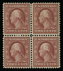 Sale Number 930, Lot Number 2412, 1909 Bluish Paper Issue (Scott 357-366)1c Green, 2c Carmine, Bluish (357-358), 1c Green, 2c Carmine, Bluish (357-358)