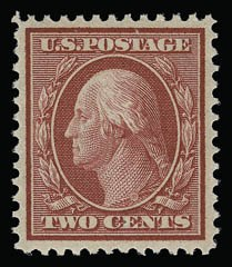 Sale Number 930, Lot Number 2413, 1909 Bluish Paper Issue (Scott 357-366)2c Carmine, Bluish (358), 2c Carmine, Bluish (358)