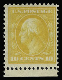 Sale Number 930, Lot Number 2419, 1909 Bluish Paper Issue (Scott 357-366)10c Yellow, Bluish (364), 10c Yellow, Bluish (364)