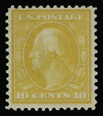 Sale Number 930, Lot Number 2420, 1909 Bluish Paper Issue (Scott 357-366)10c Yellow, Bluish (364), 10c Yellow, Bluish (364)