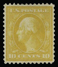 Sale Number 930, Lot Number 2421, 1909 Bluish Paper Issue (Scott 357-366)10c Yellow, Bluish (364), 10c Yellow, Bluish (364)