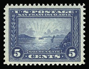 Sale Number 930, Lot Number 2461, 1913-15 Panama-Pacific Issue (Scott 397-404)5c Panama-Pacific (399), 5c Panama-Pacific (399)