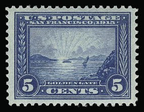 Sale Number 930, Lot Number 2462, 1913-15 Panama-Pacific Issue (Scott 397-404)5c Panama-Pacific (399), 5c Panama-Pacific (399)