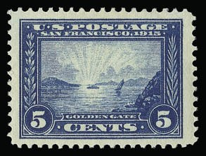 Sale Number 930, Lot Number 2463, 1913-15 Panama-Pacific Issue (Scott 397-404)5c Panama-Pacific (399), 5c Panama-Pacific (399)