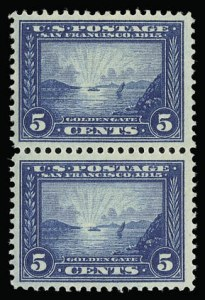 Sale Number 930, Lot Number 2464, 1913-15 Panama-Pacific Issue (Scott 397-404)5c Panama-Pacific (399), 5c Panama-Pacific (399)