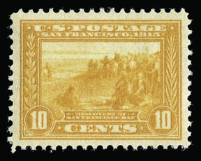 Sale Number 930, Lot Number 2465, 1913-15 Panama-Pacific Issue (Scott 397-404)10c Orange Yellow, Panama-Pacific (400), 10c Orange Yellow, Panama-Pacific (400)