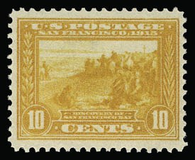 Sale Number 930, Lot Number 2466, 1913-15 Panama-Pacific Issue (Scott 397-404)10c Orange Yellow, Panama-Pacific (400), 10c Orange Yellow, Panama-Pacific (400)