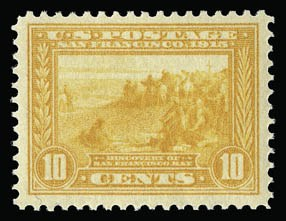 Sale Number 930, Lot Number 2467, 1913-15 Panama-Pacific Issue (Scott 397-404)10c Orange Yellow, Panama-Pacific (400), 10c Orange Yellow, Panama-Pacific (400)