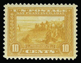 Sale Number 930, Lot Number 2468, 1913-15 Panama-Pacific Issue (Scott 397-404)10c Orange Yellow, Panama-Pacific (400), 10c Orange Yellow, Panama-Pacific (400)