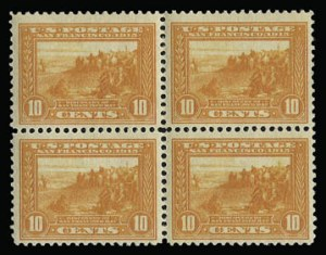 Sale Number 930, Lot Number 2472, 1913-15 Panama-Pacific Issue (Scott 397-404)10c Orange, Panama-Pacific (400A), 10c Orange, Panama-Pacific (400A)