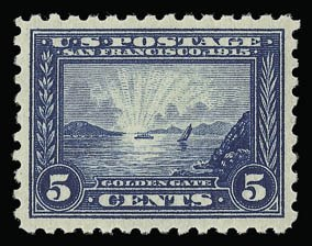 Sale Number 930, Lot Number 2475, 1913-15 Panama-Pacific Issue (Scott 397-404)5c Panama-Pacific, Perf 10 (403), 5c Panama-Pacific, Perf 10 (403)