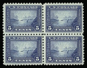 Sale Number 930, Lot Number 2476, 1913-15 Panama-Pacific Issue (Scott 397-404)5c Panama-Pacific, Perf 10 (403), 5c Panama-Pacific, Perf 10 (403)