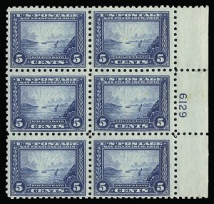 Sale Number 930, Lot Number 2477, 1913-15 Panama-Pacific Issue (Scott 397-404)5c Panama-Pacific, Perf 10 (403), 5c Panama-Pacific, Perf 10 (403)