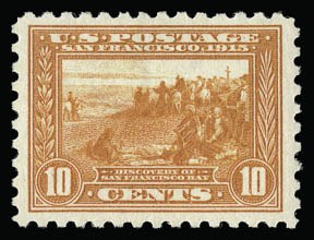 Sale Number 930, Lot Number 2478, 1913-15 Panama-Pacific Issue (Scott 397-404)10c Panama-Pacific, Perf 10 (404), 10c Panama-Pacific, Perf 10 (404)